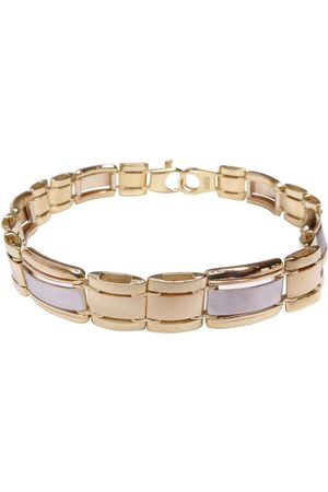 Christian 14 karaats heren armband bicolor