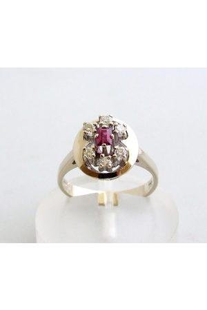 Christian Ring met diamant en robijn