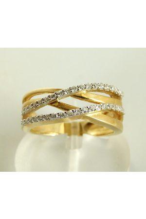 Christian Gouden ring met diamanten