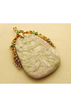Christian 18 karaat gouden hanger met jade
