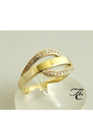 Atelier Christian 14 karaat ring met diamanten