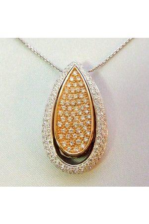 Christian 18 karaat bicolor hanger met diamanten