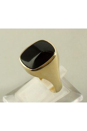 Atelier Christian 14 karaat gouden zegelring met onyx
