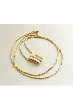 Christian Gouden collier en hanger met diamanten