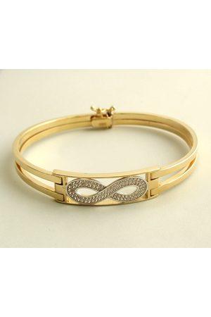 Christian Gouden zirkonia infinity armband