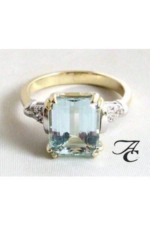 Atelier Christian Bicolor ring met aquamarijn en diamanten