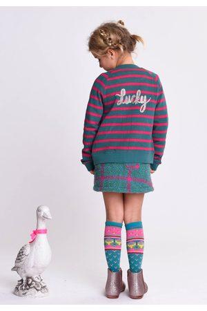 Oilily Hemi sweat cardigan 65 big stripes et- turquoise