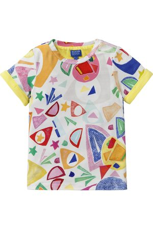 Oilily Geel jersey shirt met cut-out print matisse style