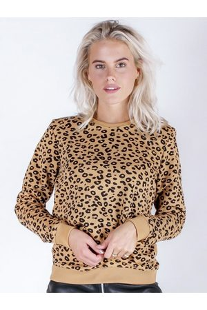 Colourful rebel Oversized Leopard Sweat camel