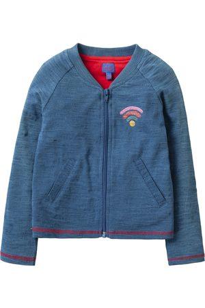 Oilily Teddia jersey cardigan 53 solid indigo with i love wifi