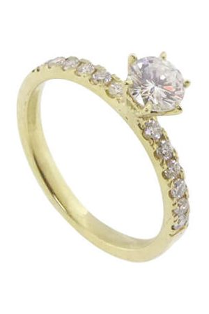 Atelier Christian Gouden verlovingsring met diamanten
