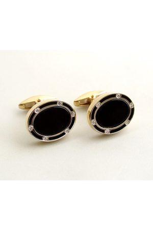 Christian Gouden diamanten manchetknopen met onyx