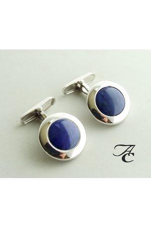 Atelier Christian Gouden manchetknopen met lapis lazuli