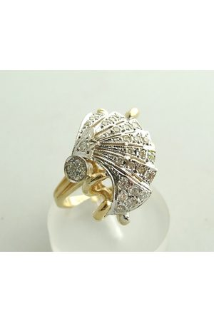 Christian 18 karaat gouden ring met diamanten