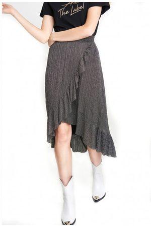 Alix the label Alix 197288390 ladies knitted lurex mesh long skirt