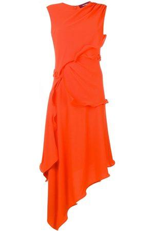 Sies marjan Helena ruffle trim asymmetric dress