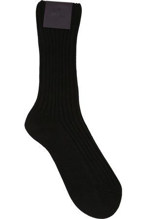 Prada Logo Patch Cotton Socks