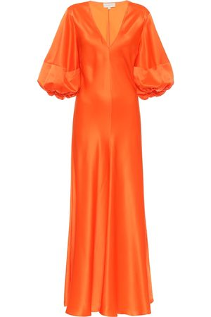Lee Mathews Dames Midi jurken - Exclusive to Mytheresa – Silk-satin midi dress