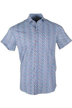 Ferlucci Heren Overhemden - Heren korte mouw overhemd trendy design stretch torino