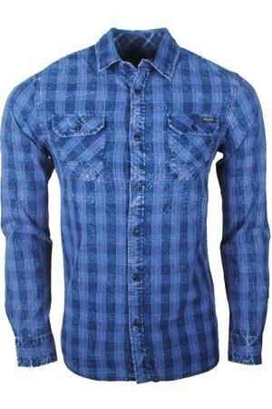 Earthbound Heren overhemd met 2 borstzakjes geblokt