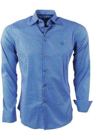 Ferlucci Heren overhemd gestippeld calabria stretch