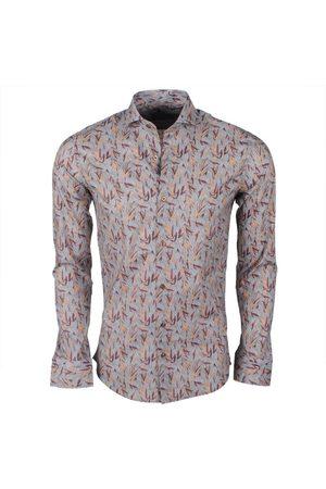 Dom Tower Heren overhemd met trendy design stretch