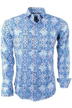 Ferlucci Heren overhemd met trendy design calabria stretch