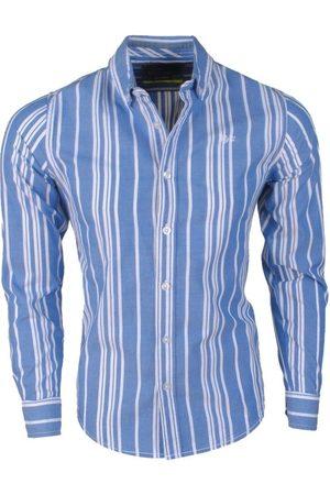 MZ72 Heren Overhemden - Heren overhemd dane gestreept