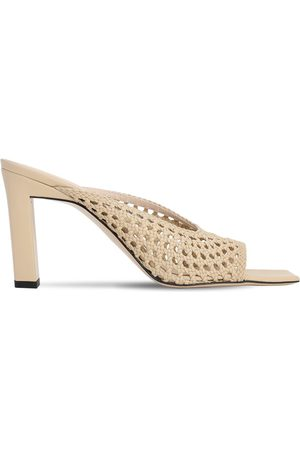 Wandler 85mm Isa Woven Leather Sandals