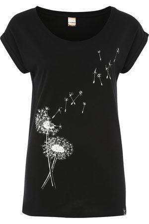 Iriedaily Dames T-shirts - Shirt 'Pusteblume