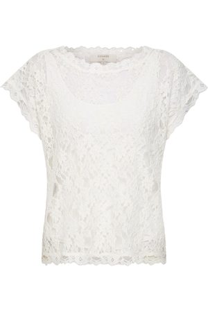Cream Dames T-shirts - Top 'Vivi