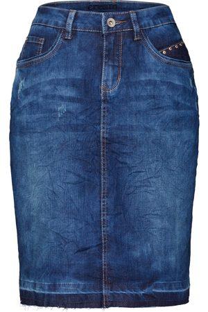 Cream Rok 'Patched denim Skirt