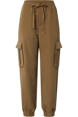 Urban classics Cargobroek 'Ladies Viscose Twill Cargo Pants