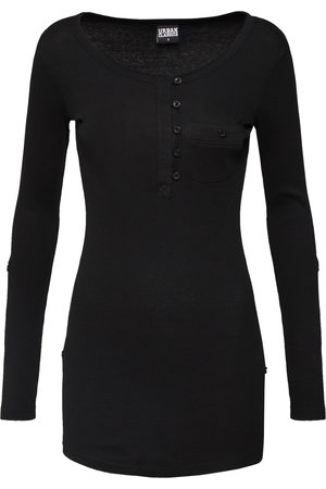 Urban classics Dames T-shirts - Shirt 'Long Rib Pocket Turnup