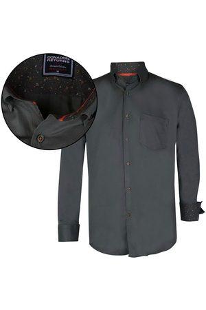 Donadoni Heren Overhemden - Heren overhemd regular fit army