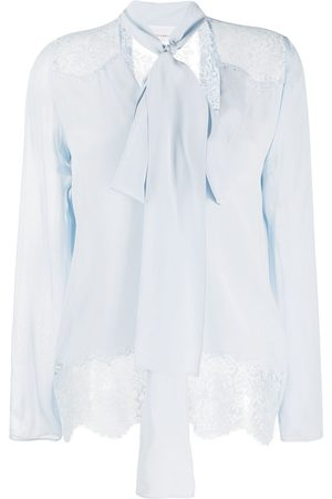 FAITH CONNEXION Pussy-bow silk blouse