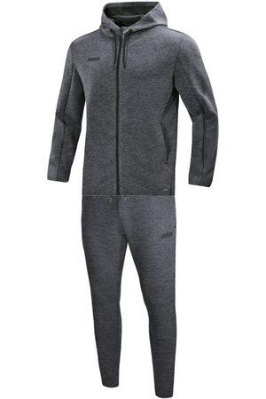 Jako Joggingpak met sweaterkap premium basics m9629-40 melange