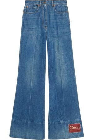 Gucci Logo-patch flared denim jeans