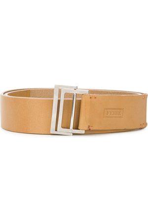 Gianfranco Ferré 2000s double-ring buckle belt