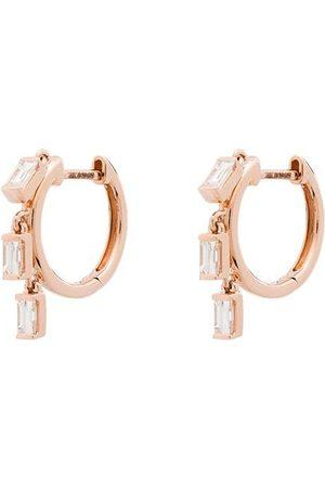 Anita 18kt baguette diamond hoop earrings