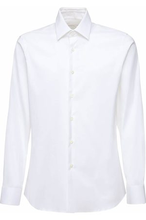 Prada Slim Fit Stretch Cotton Poplin Shirt