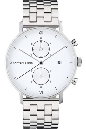 Kapten & Son Analoog horloge 'Chrono Silver Steel