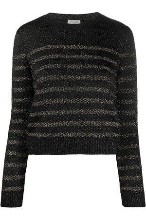 Saint Laurent Metallic thread crewneck jumper