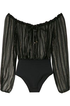 AMIR SLAMA Dames Bodysuits - Metallic bodysuit