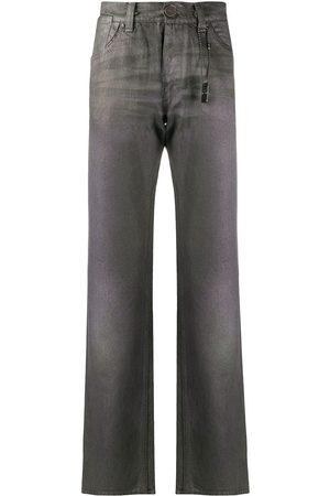 Gianfranco Ferré 1990s metallic-effect straight-leg jeans