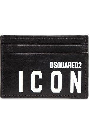 Dsquared2 Icon Print Leather Card Holder