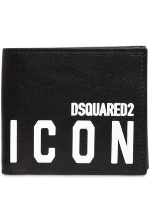 Dsquared2 Print Icon Leather Coin Wallet