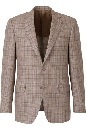 CANALI Checked Wool and Linen Blazer