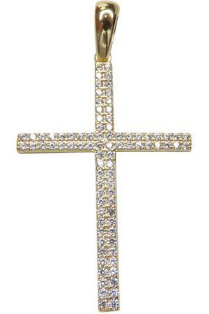 Christian Dames Kettingen met hanger - Gouden kruis hanger met zirkonia's