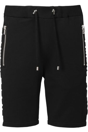 Balmain Embossed Logo Cotton Jersey Shorts